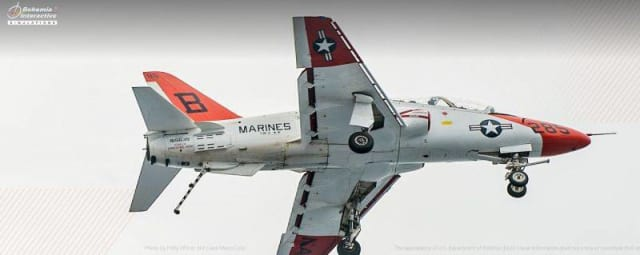 The T-45 Goshawk was designed and built by American company McDonnell Douglas (MDC) and British Aerospace (BAE) in the 1970s during a period where the US Navy was replacing their previous generation of jet trainer aircraft, replacing both the T-2 and T-4. (Image courtesy of BISim.)