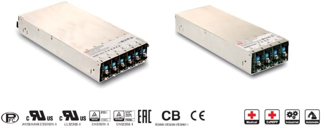 The MEAN WELL NMP power supplies. (Image courtesy of MEAN WELL.)