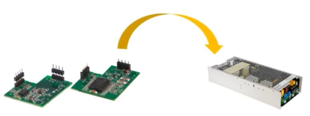 Figure 4. A communication module can be selected for remote monitoring or controlling according to system requirements. (Image courtesy of MEAN WELL.)