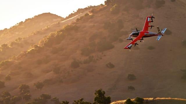 The Kitty Hawk Heaviside eVTOL air taxi. (Image courtesy of Kitty Hawk.)