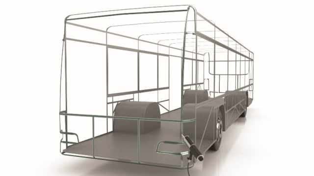 In this rendering, adhesive is used to bond body panels to a metal frame. (Image courtesy of 3M)