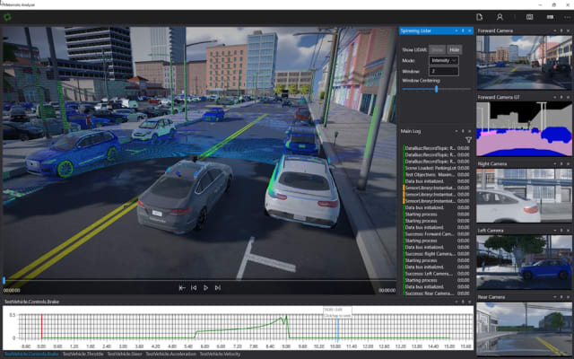 Metamoto's simulation platform offers customers the ability to train, test and debug the software of autonomous vehicles. (Image courtesy of Metamoto Inc.)