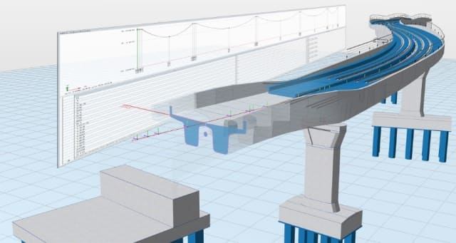 Automatic derivation of the simulation model with Allplan Bridge. (Picture courtesy of ALLPLAN Infrastructure.)