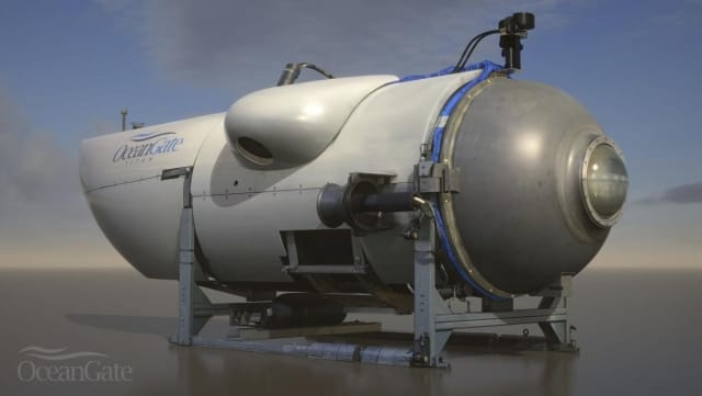 A rendering of the Titan manned submersible, which OceanGate plans to send off on her maiden voyage in late summer 2021. (Image courtesy of OceanGate.)