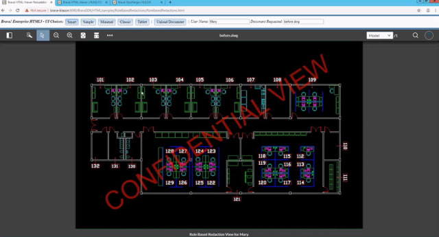 The Brava! Enterprise interface with the same DWG file. (Image courtesy of OpenText.)