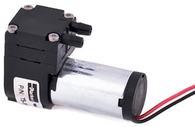 This Parker T2-05 micro diaphragm pump is available in very small form factors. Some models are slightly over an inch in length and just over half an inch wide. (Image courtesy of Parker.)