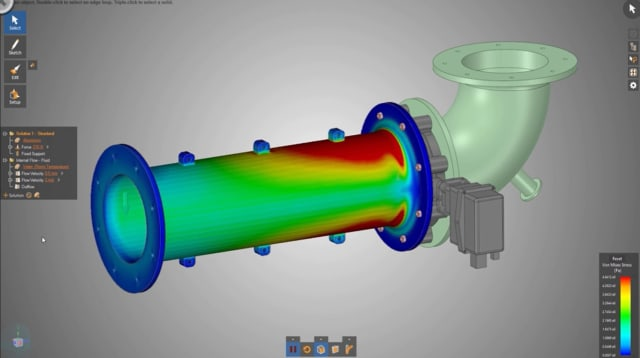 Screenshot of ANSYS Discovery Live. (Image courtesy of ANSYS.)