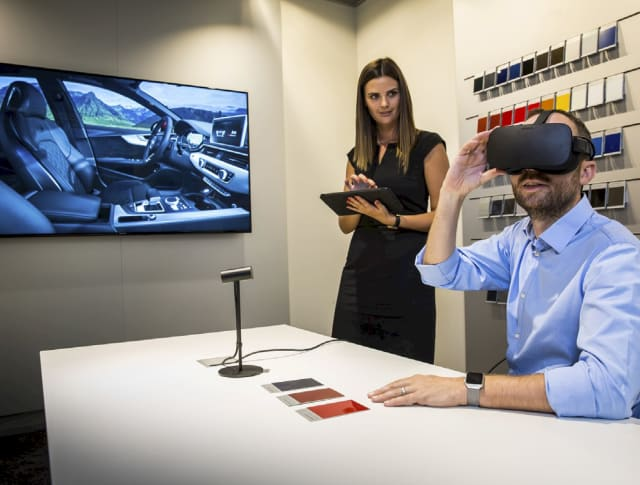 Audi engineers using VR for automotive design. (Image courtesy of Audi.)