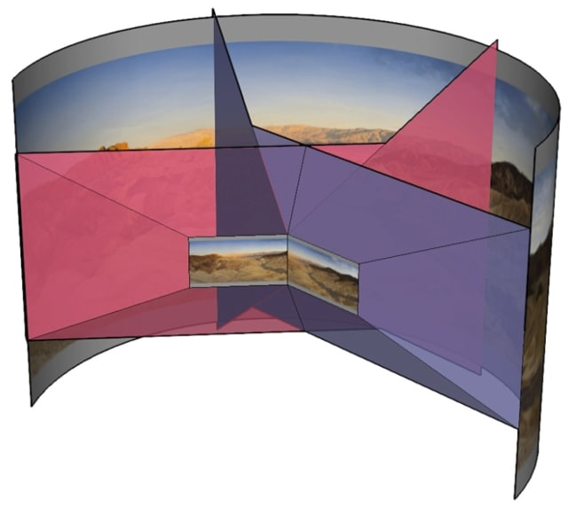 Illustration of multi-view rendering for VR. (Image courtesy of NVIDIA.)