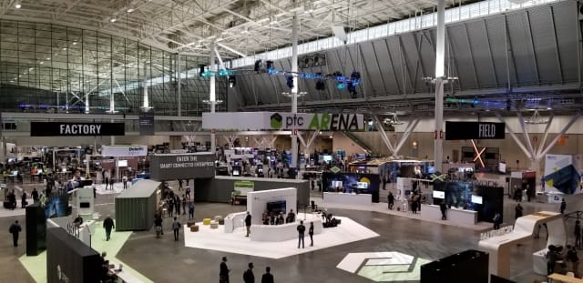 A section of the LiveWorx 2019 show floor.