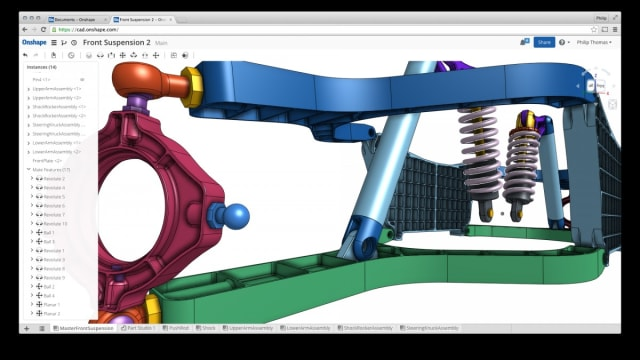 An example of Onshape's interface.