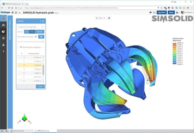 Simulation in an Onshape environment.