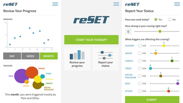 Pear Therapeutics' reSET was the first 90-day prescription digital therapeutic (PDT) to receive FDA authorization. (Image courtesy of mobileathsnews.com.)