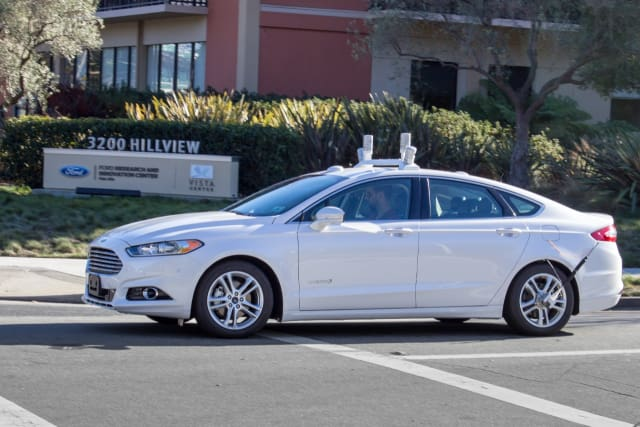 Autonomous Ford Fusion. (Image courtesy of Ford Motor Company.)