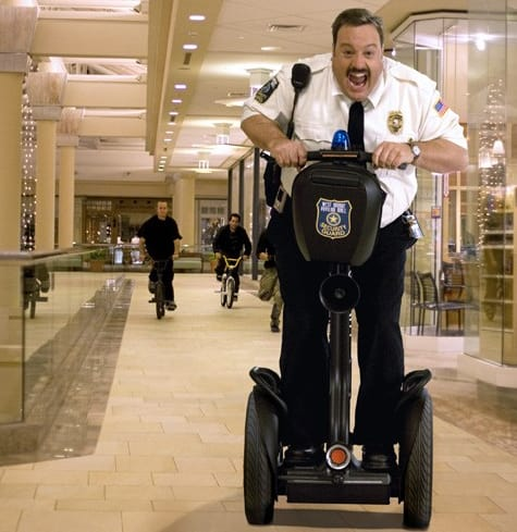 This guy's job is safe. Picture of Mall Cop from Rotten Tomatoes.