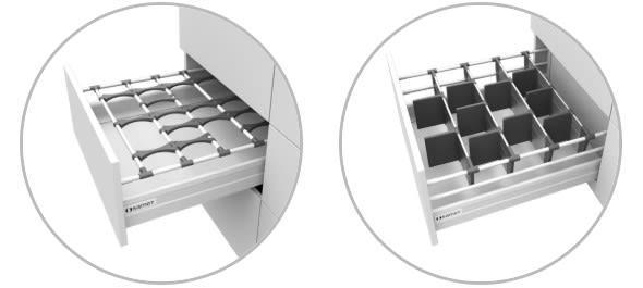 Inner drawer dividing systems. (Image courtesy of SAMET.)