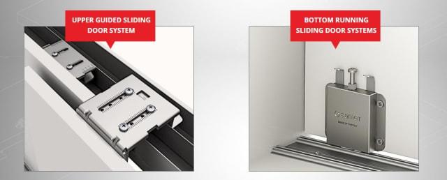 SAMET's sliding door systems. (Image courtesy of SAMET.)