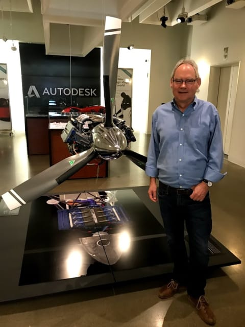 Scott Borduin, CTO of Autodesk, visits the company's Market St office, in San Francisco.