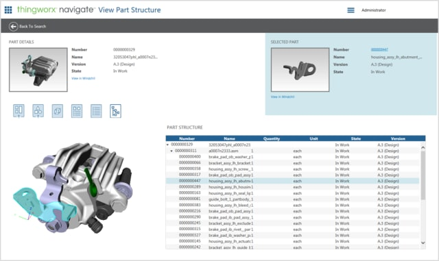 Sample screenshot of ThingWorx Navigate.