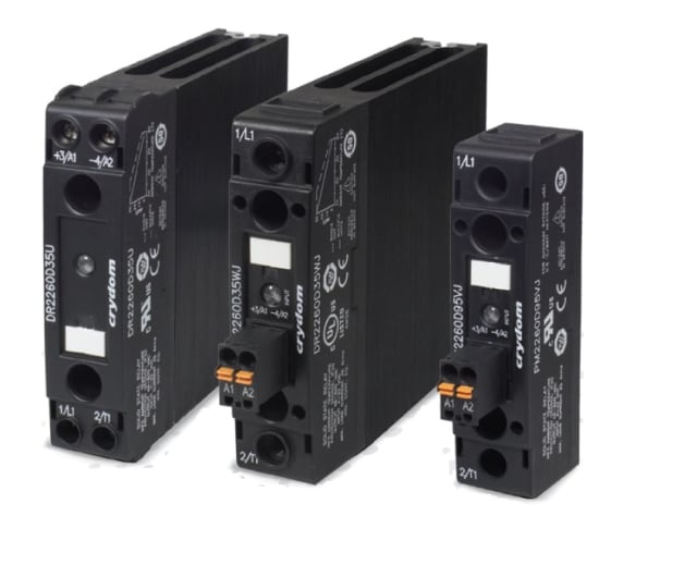 The Sensata-Crydom NOVA22 series of solid state relays. (Image courtesy of Sensata Technologies.)
