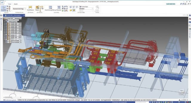 Mechtop uses Solid Edge to design its custom conveyor systems. (Image courtesy of Siemens.)