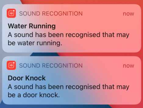 Sound recognition in the AirPods Pro. (Image courtesy of Hearing Tracker.)