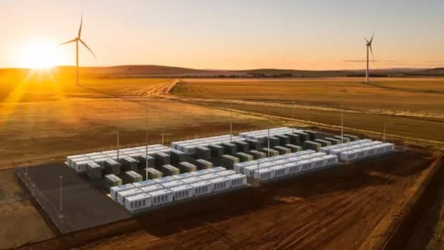 The Tesla battery was built alongside Hornsdale wind farm in Australia and is the largest Lithium ion battery in the world by a factor of 3. (Image Courtesy of Teslarati.)