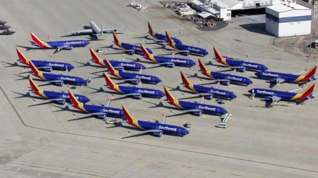 Southwest Airlines was cancelling 130 or more flights per day out of 4000 and stated that it is in the process of moving its 34 MAX jets from airports and maintenance centers. American Airlines has been cancelling 85 daily flights and moved its 24 MAX jets to hub airports and maintenance facilities. (Image courtesy of Southwest Airlines.)