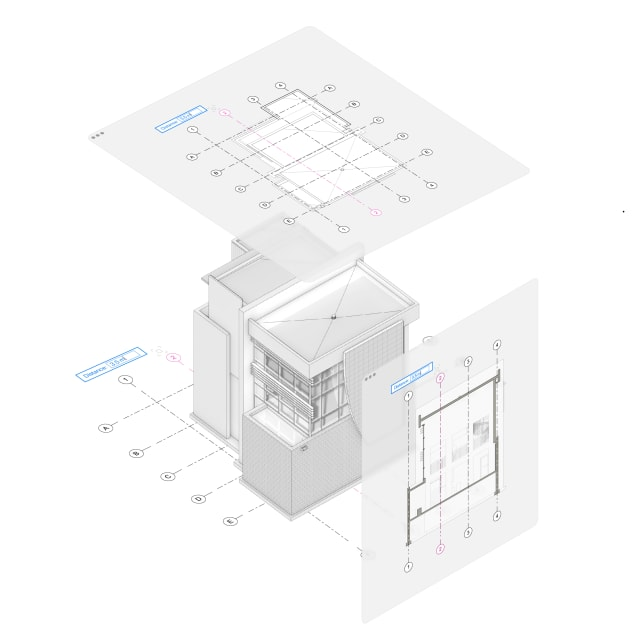 Structural grids. (Image courtesy of Vectorworks.)