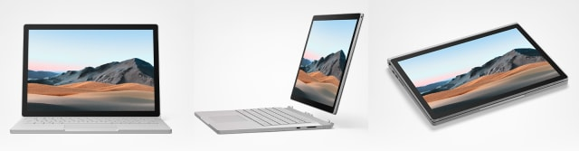 The Surface Book 3 screen detaches from the base and can be reattached in either direction. (Image courtesy of Microsoft.)
