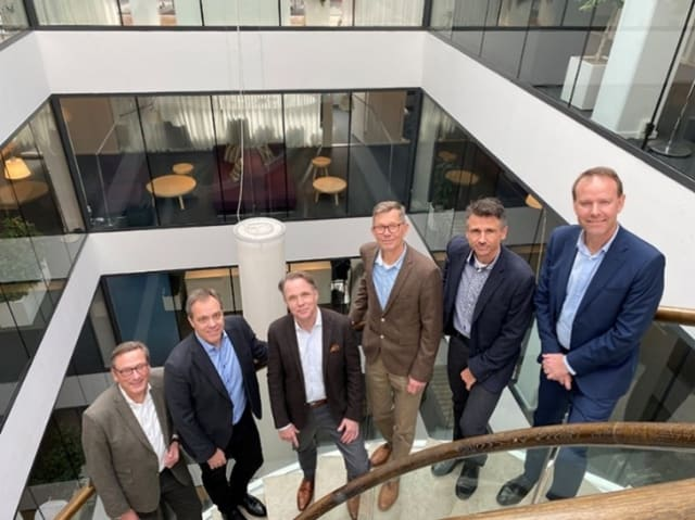 """A Strong Combination. Together, TECHNIA and Scanscot will present complete solutions for their customers, platforms and expertise that contain all important aspects of product development, based primarily on the tools on Dassault's 3DEXPERIENCE platform and the SIMULIA Suite on the simulation side. """"It is important to be able to show world-class in all parts. That is where our ambitions lie, and the purchase of Scanscot is a reflection of this when it comes to simulation and analysis,"""" states Jonas Gejer, TECHNIA CEO. Left-to-right: Ola Jovall, Head of Engineering Services, Scanscot. Johan Kölfors, CEO, Scanscot. Jonas Gejer, CEO, TECHNIA. Jan-Anders Larsson, Founder and Chairman of the Board, Scanscot. Patrick Andersson, Technical Expert and Team Leader, Scanscot. Håkan Gustavsson, Director Nordics / Benelux, TECHNIA."""