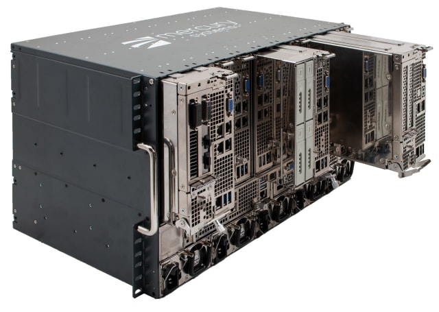 Composable mini-servers feature modules that can be plugged into the chassis in any combination to meet specific system needs. To prevent a single point of failure, redundancy can be configured at a module level, versus system level - lowering the total cost of ownership. (Image courtesy of Mercury Systems.)