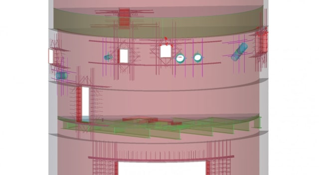 Barton Marlow uses Tekla Structures to meticulously preplan the steel and concrete work that goes into a project's foundation before getting to the construction site. (Image courtesy of Barton Marlow.)