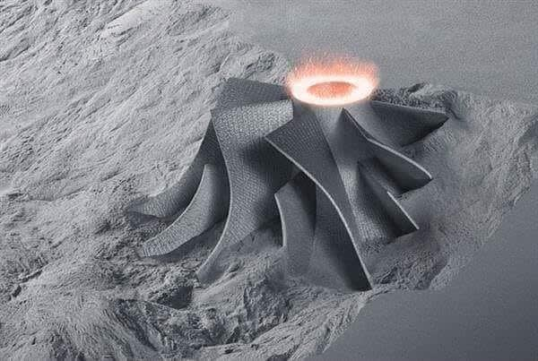 Selective Laser Sintering with metal powder for Additive Manufacturing. (Image courtesy TRUMPF.)