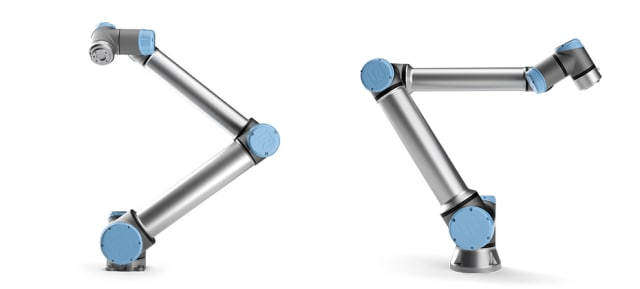 Left: the UR10. Right: the new UR10e. (images courtesy of Universal Robots)