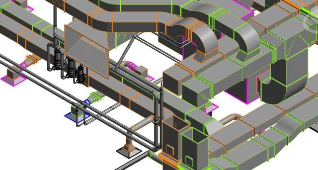 Revit Ductwork for Fabrication. (Image courtesy of Autodesk.com.)