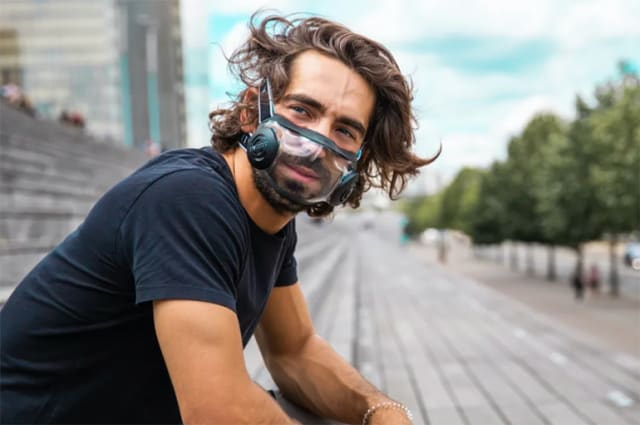 The CIVILITY mask. (Image courtesy of Indiegogo.)