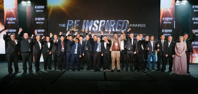 Group photo of all the winners for 2017 (Image credit: Bentley Systems)
