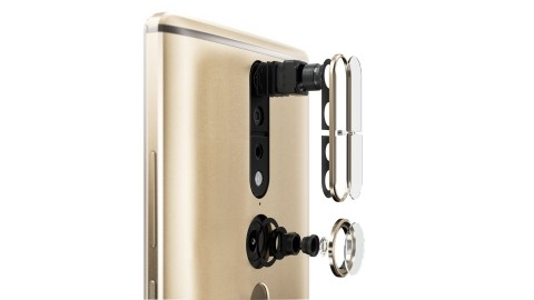 """An RGB camera, fish eye lens and depth sensor allows the Phab 2 Pro to """"see"""" the world the way the human eye does. (Image courtesy of Lenovo.)"""