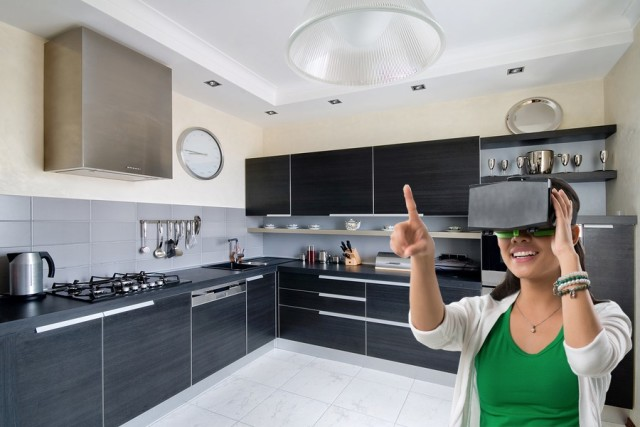 Can I get that cabinet moved over just a little? Virtual reality will let homeowners immerse themselves in their home improvement project by allowing for a more realistic visualization.