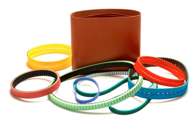 A variety of custom belts. (Image courtesy of BeltCorp.)