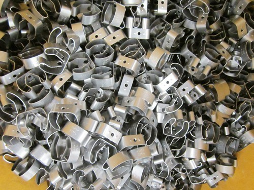 Complex, low cost parts produced by fourslide machines. Image courtesy Plymouth Spring.