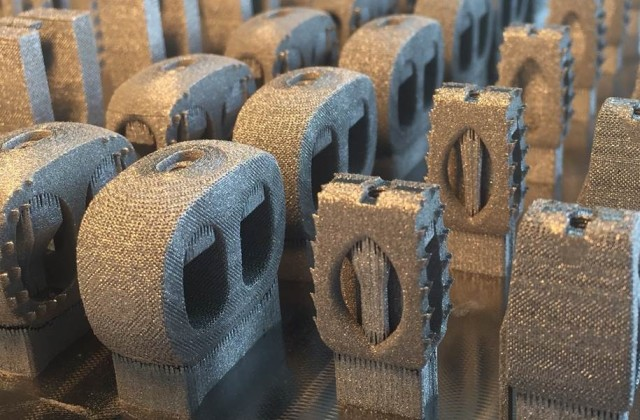 3D-printed spinal implants from Medicrea. (Image courtesy of Medicrea.)
