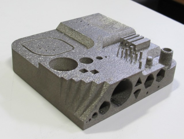 An example object created with metal 3D printing. (Image courtesy of MatterFab.)