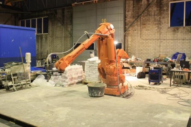 The ProTo 3DP Concrete 3D Printer. (Image courtesy of CyBe.)