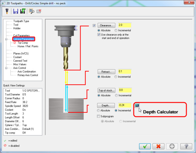 Spot Drill Tip Calculator > ENGINEERING com