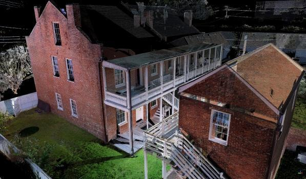 The Johnson House was recreated using point cloud data and photogrammetry to create this 3D perspective. (Image courtesy of CyArk.)