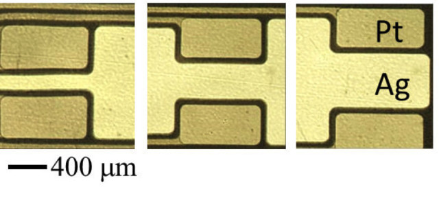 In order to create these new types of sensors, gold films are patterned onto a substrate using microcontract printing and etching.