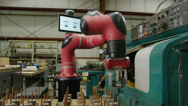 Sawyer is the one-armed variant of the original Baxter from Rethink Robotics.