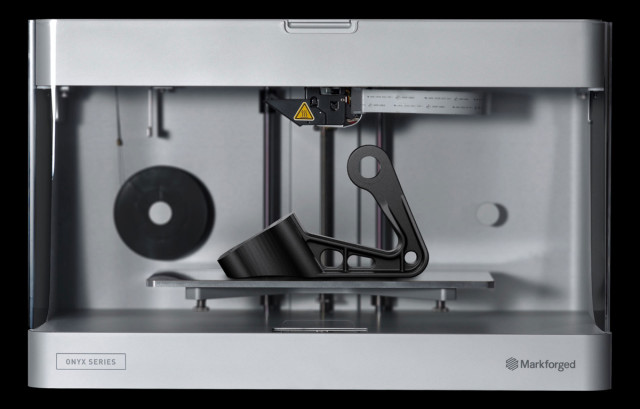 The new Onyx One 3D printer, which is capable of 3D printing Markforged's Onyx material. (Image courtesy of Markforged.)